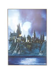 harry potter hogwarts castle wood wall art topic