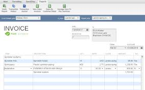 Landscaping Invoice Template by How To Get Gross Profit From An Invoice In Quickbooks Quickbooks