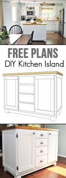 Diy Kitchen Island Plans 15 Easy Diy Kitchen Islands That You Can Build On A Budget Diy