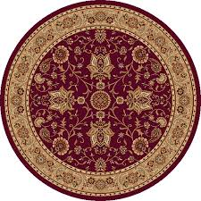 Red Oval Rug Shop Home Dynamix Rome Red Round Indoor Woven Area Rug Common 5