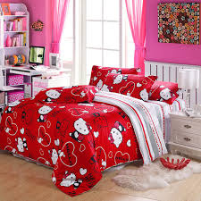 100 Cotton Queen Comforter Sets New 100cotton Hello Kitty Duvet Covers Hello Kitty Queen Size