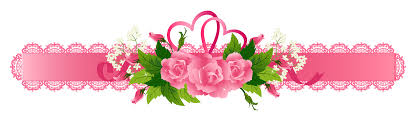 decorative pink ribbon with roses png clipart gallery