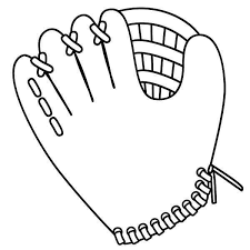 a baseball glove colouring page happy colouring