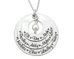 Personalized Family Necklace Family Name Necklace Etsy