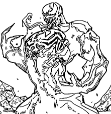 coloring pages venom kids coloring