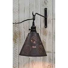 Punched Tin Pendant Light Andover L In Rustic Tin W Chisel Design Primitive Country