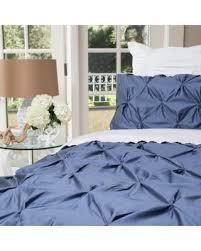 save your pennies deals on slate blue valencia pintuck duvet