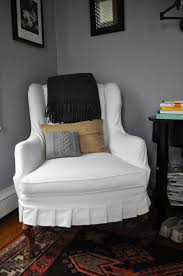 white wingback chair slipcover wingback chair slipcover