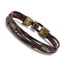 luxury leather bracelet images Men jewelry vintage leather bracelet luxury brand bangle fashion jpg