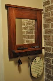 wall mirror hooks shelf