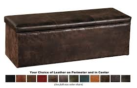 Bedroom Storage Chest Bench Vail Leather Covered Bench Blanket Box Queen Wdsbb25q Sl The