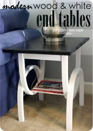 modern wood end table modern wood u0026 white end tables the homes i have made
