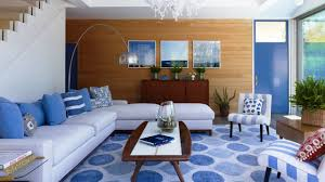 sublime blue u0026 white living room design ideas youtube