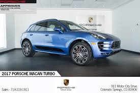2017 porsche macan base 2017 porsche macan turbo for sale in colorado springs co p2714
