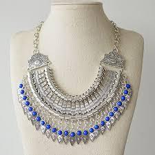 silver fashion statement necklace images Bohemian fringe tassel collar statement necklace vintage boho jpg
