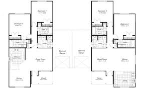 2 bedroom duplex floor plans modest ideas duplex house plans with garage small homes zone home