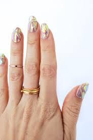 hologram nail decal diy u2013 a beautiful mess