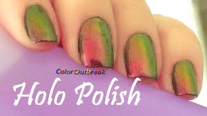 born pretty chameleon holo polish 205 colors on nails pink