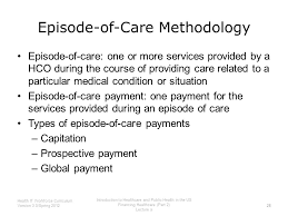 tricare episode of care table introduction to healthcare and public health in the us financing