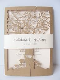 wedding invitations laser cut tree laser cut wedding invitation