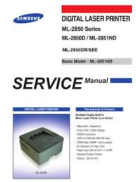 samsung ml 2850 series ml 2850d ml 2851nd service manual