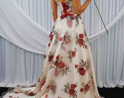 floral wedding dress etsy