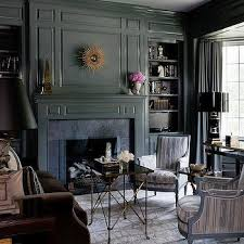 black built ins brass lights with black built in bookcases contemporary den
