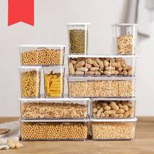 boite de cuisine en plastique transparent boîte de stockage des aliments cuisine