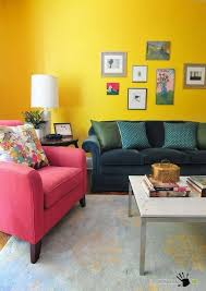 Bright Armchair Dark Green Sofa And Pink Armchair Also Simply Living Room Table In