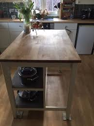 stenstorp kitchen island stenstorp kitchen island plus 2 ingof bar stools in st neots