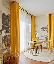 rideaux décoration intérieure salon les 25 meilleures idées de la catégorie rideau moutarde sur
