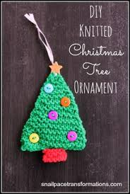 free knit tree ornament patterns knitting