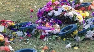 anzac day wreaths flowers stolen from box hill war memorial