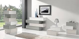 comodini moderni bianchi cassettiere moderne e classiche com祺 comodini e grigio