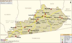 usa map with time zones and cities list of museums in kentucky kentucky museum map
