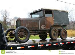 Old Ford Trucks Pictures - old ford truck on a flatbed stock images image 35341444
