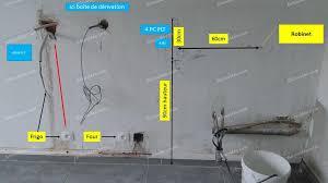 electricité cuisine schema electrique branchement cablage installation électrique dans