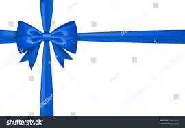 tying gift bows gift bow ribbon silk blue bow stock vector 732059995