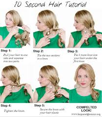 hairstyles with one elastic 10 second quick hairstyle tutorial for back to school glamour zine
