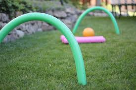 toddler approved pool noodle hockey for kids