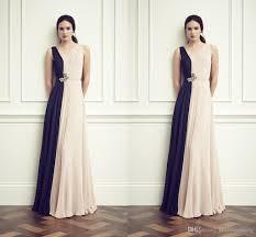 dh prom dresses packham 2015 unique design stitching color chiffon evening