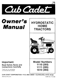 cub cadet lawn mower 1110 293 user guide manualsonline com