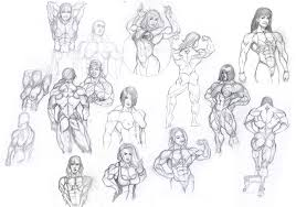 muscle girls sketches by hardbodies on deviantart