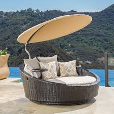 Outdoor Furniture Daybed Impressive Outdoor Canopy Daybed Unique Shape Wicker Rattan