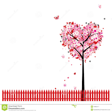 pink floral tree shape for your design stock image image