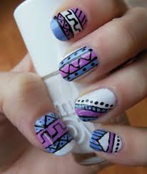 tribal nail art u2013 a sparkling finish