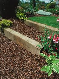 How Much To Landscape A Backyard by Landscaping With Railroad Ties Hgtv
