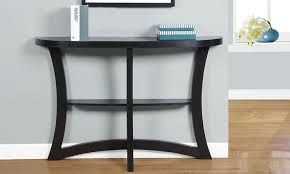 modern two tiered console table groupon goods