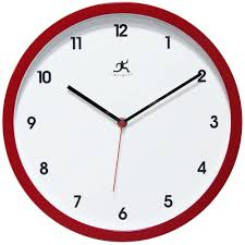 cool wall clock red wall clock with second hand