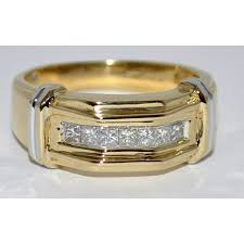 white gold engagement ring with yellow gold wedding band wedding ring 14k yellow gold 0 5ct mens band 8 5mm comfort fit two
